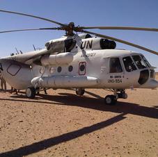 UN helicopter - Western Sahara