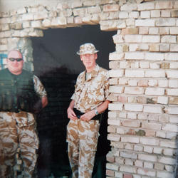 At an unguarded and uncontrolled munitions dump in Iraq