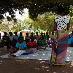 Village training session (the StepUp Programme - Northern Uganda)