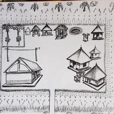'After' sketch of village.