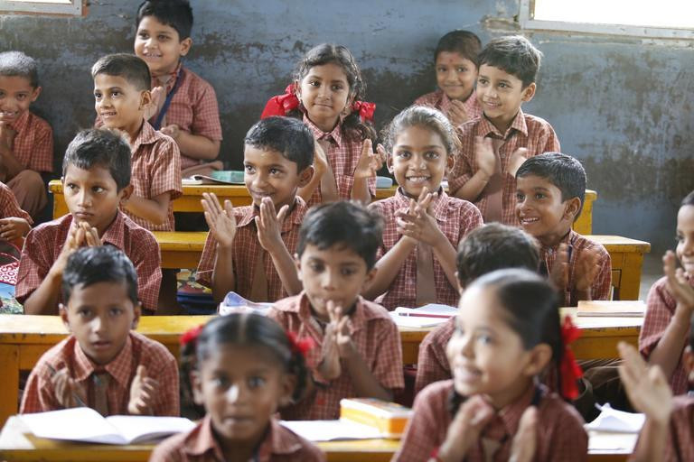 Schoolchildren in low income part of the world