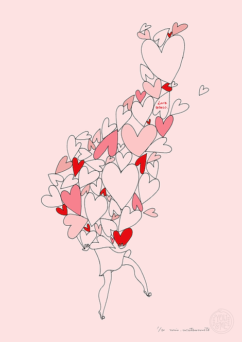 lots of hearts - pink