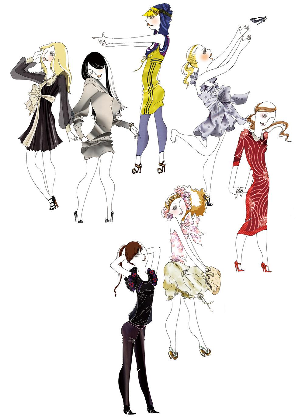 ELLE Japon Fashion horoscope 2009 | mio.matsumoto