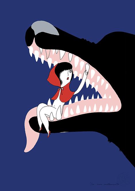 fairy tales - wolf blue