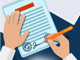 A importância de um contrato bem elaborado em seu job.