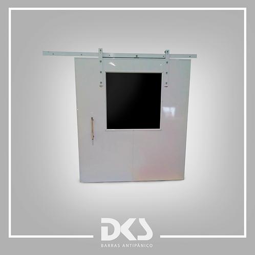 Portas De Ferro Com Visor - DKS