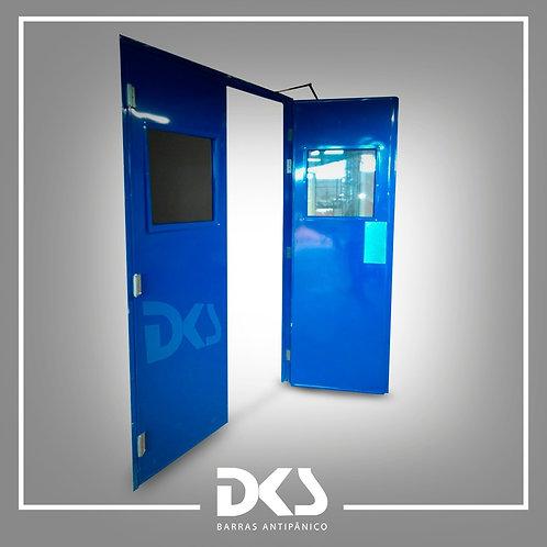 Galvanized steel sheet door