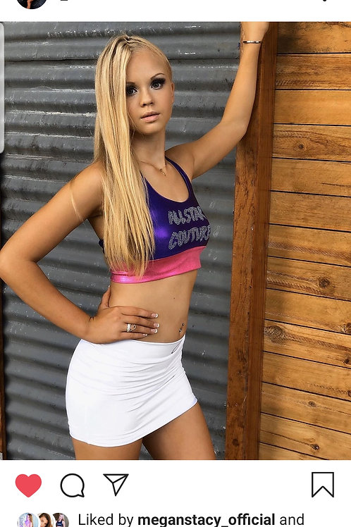 Ombre Pink Purple Mystique Sports Bra