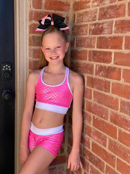 Pink Mermaid Practice Wear Set