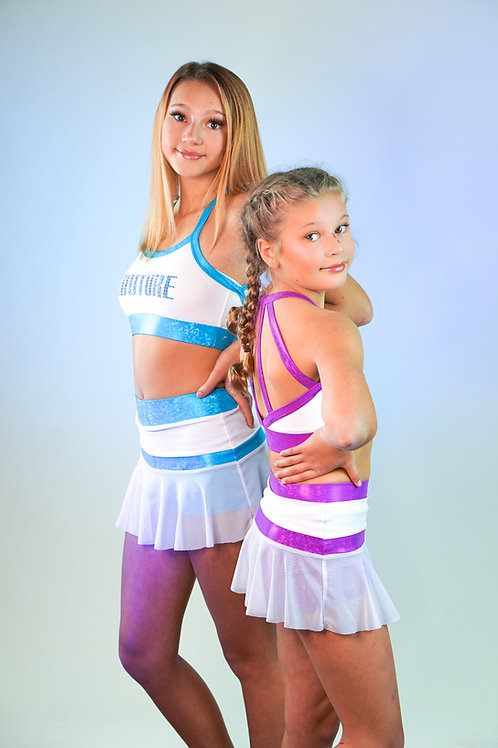 Meshin' Around Sports Bra and Skirt Set