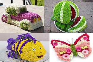 08 Изготовление фигурок из живых цветов.