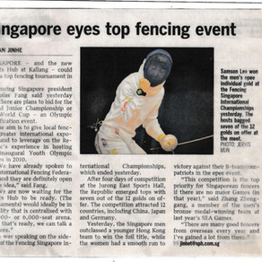 Singapore eyes top fencing event