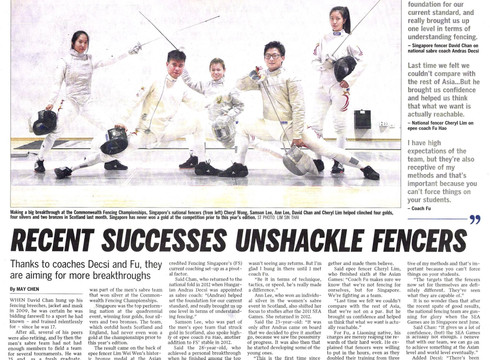 recent successes unshackle fencers