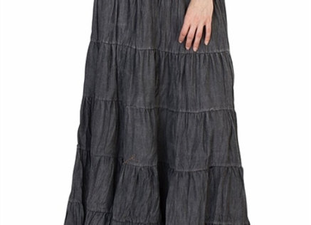 Denim Tierd Skirt