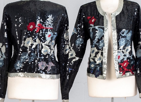 Flower beaded jacket