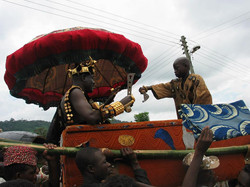 Gbi Chief in Palanquin