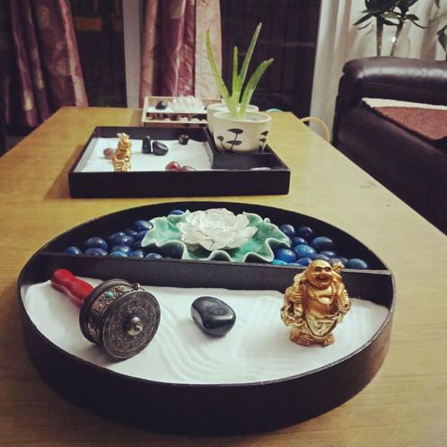 ... Zen Garden With Lotus Theme_Zen Garden Mini_White Lotus_House Of Zen