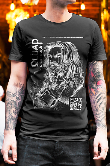 King Oluap Male T-Shirt - Black