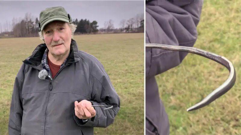 Agulha viking de prata foi encontrada na Suécia