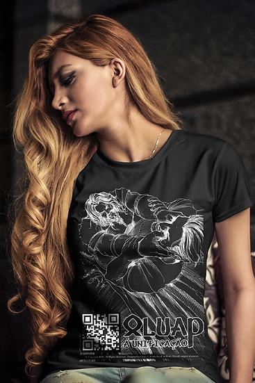 Camiseta Feminina (baby long) Rei X Earl - Preta