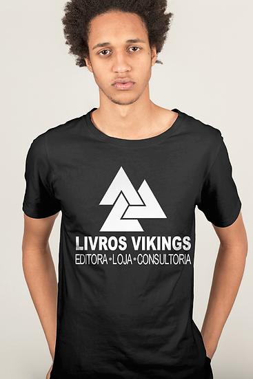 Camiseta Masculina Livros Vikings 2.0 - Preta