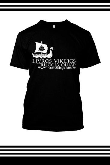 Camiseta Masculina Livros Vikings - Preta