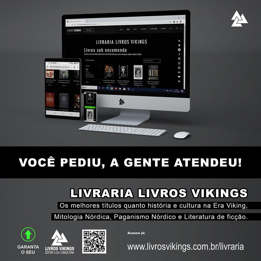 Comece a estudar sobre os vikings com as melhores obras do tema, disponíveis na Livraria Livros Vikings, aproveite!