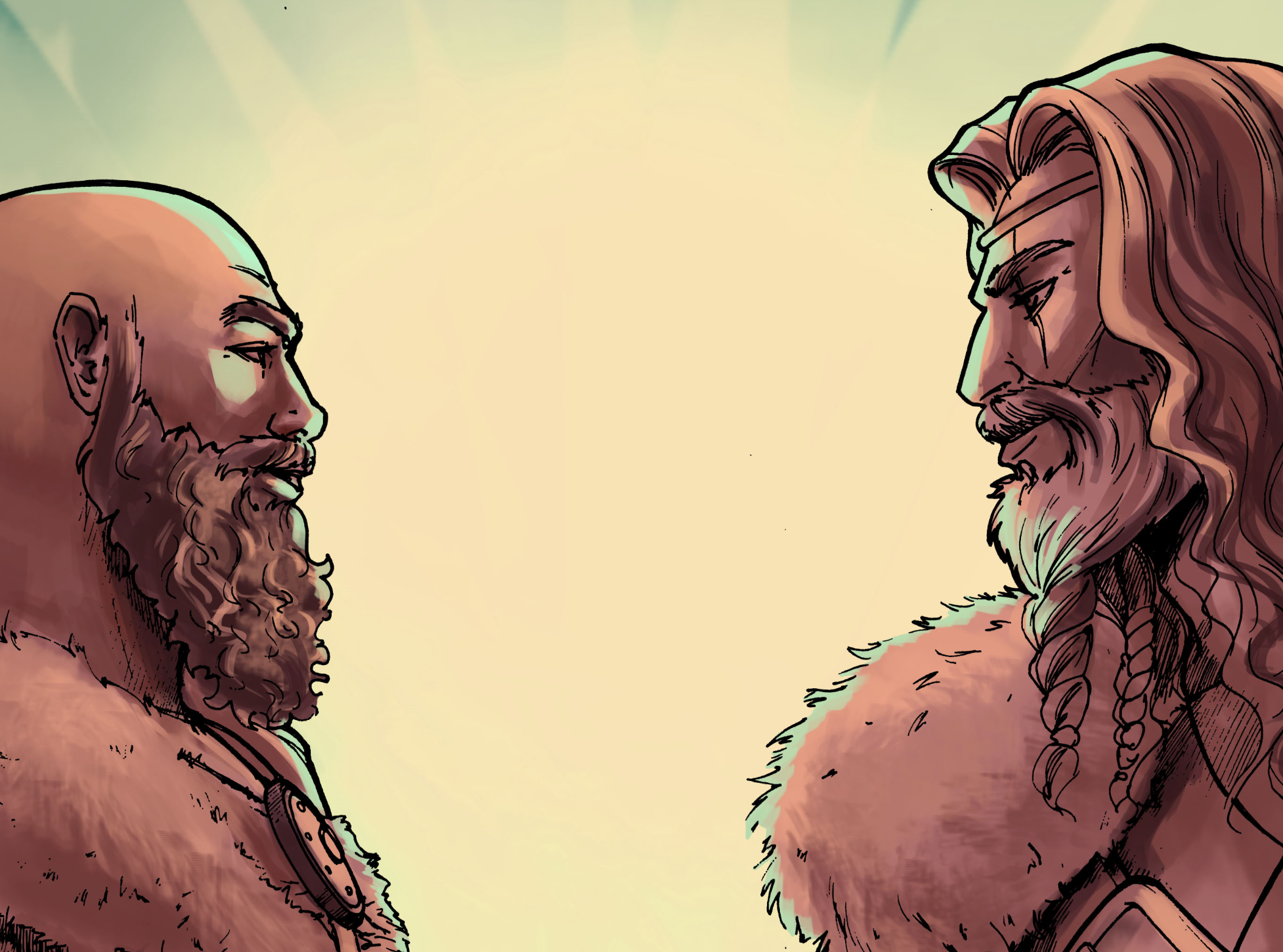 King Ragnar and Jarl Oluap