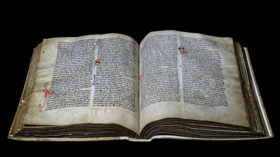 Um manuscrito islandês da Coleção Arnamagnaean da Universidade de Copenhague.