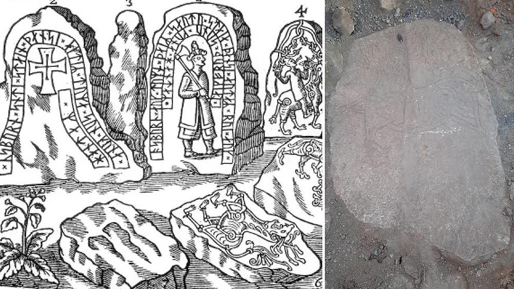 Suécia redescobre uma pedra rúnica perdida há 300 anos