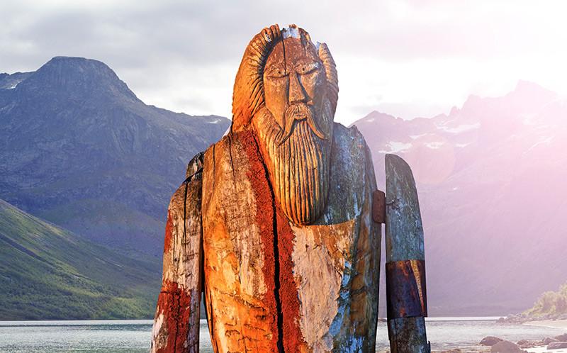 Odin em um fiorde