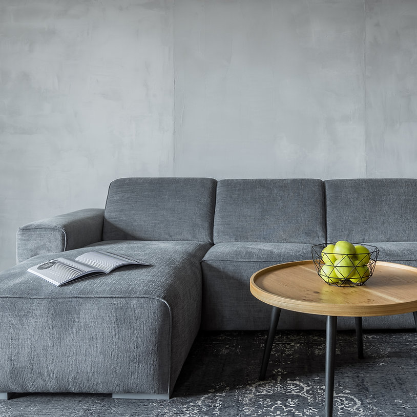 Graues Sofa