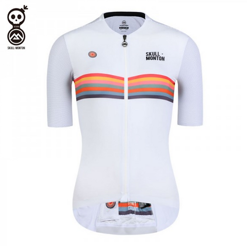 SKULL MONTON WOMENS CYCLING JERSEY HOLIDAY WHITE