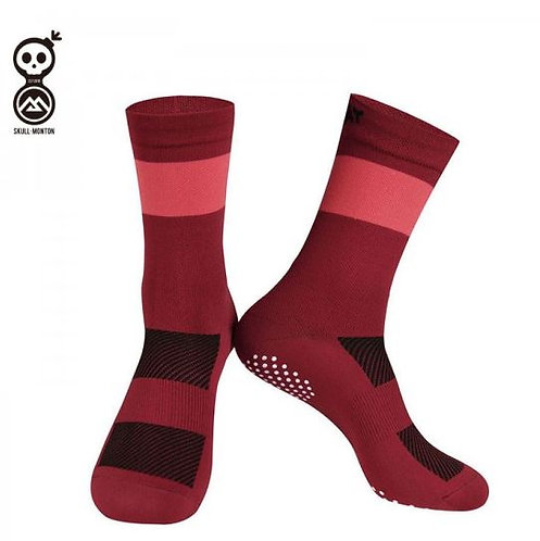 SKULL MONTON RED CYCLING SOCKS KNIT SUNDAY