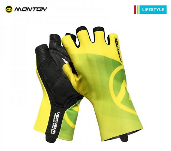 SHORT FINGER PADDED CYCLING GLOVES LIFESTYLE MIRAGGIO YELLOW
