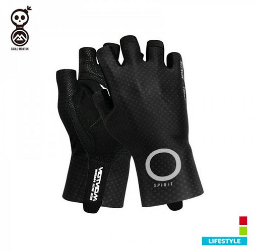 BLACK CYCLING GLOVES COBRAND LIFESTYLE SPIRIT