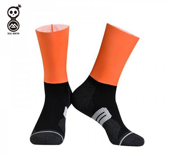 SKULL MONTON CYCLING SOCKS THURSDAY ORANGE