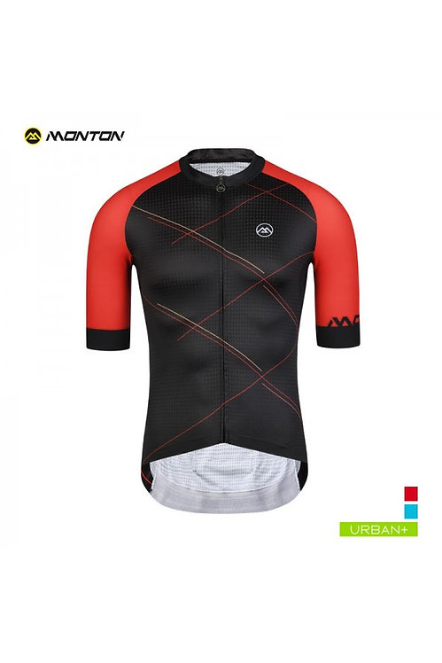 Short Sleeve Jersey Urban Checker Black Red