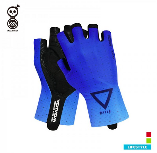BLUE CYCLING GLOVES COBRAND LIFESTYLE WATER