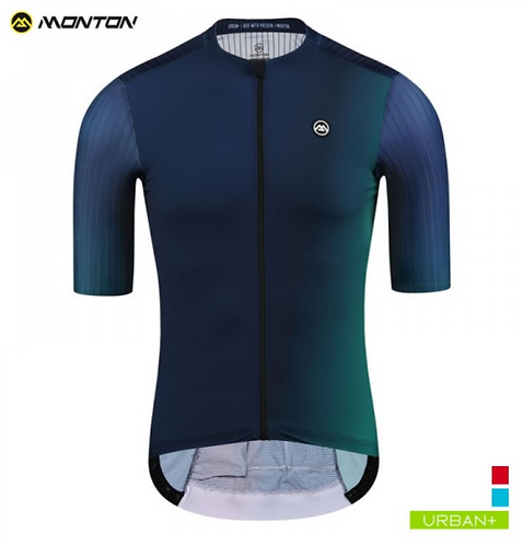 MENS CYCLING JERSEY URBAN AURORA DEEPBLUE