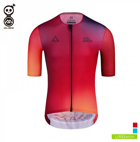 COBRAND MENS SHORT SLEEVE CYCLING JERSEY FIRE