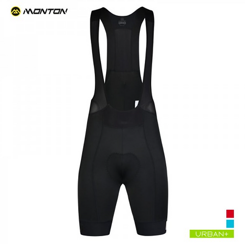 MENS CYCLING BIB SHORTS URBAN SUUPAA BLACK