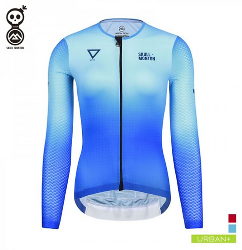 WOMENS LONG SLEEVE CYCLE JERSEYS COBRAND WATER BLUE