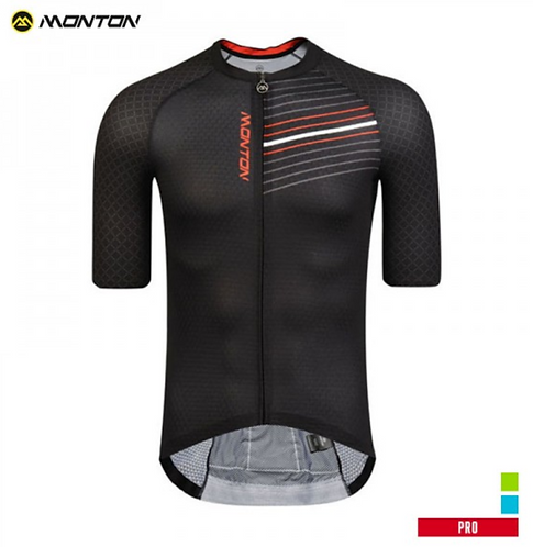 PRO MENS SHORT SLEEVE CYCLING JERSEY GOWIND BLACK