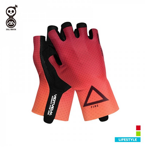 RED CYCLING GLOVES COBRAND LIFESTYLE FIRE