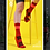 Thumbnail: MEN SKULL MONTON RED CYCLING SOCKS KNIT SUNDAY