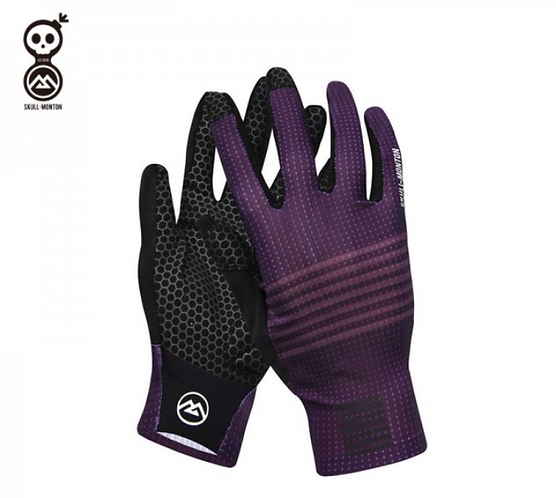 SKULL MONTON FULL FINGER CYCLING GLOVES SATURDAY PURPLE