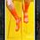Thumbnail: MEN SKULL MONTON ORANGE CYCLING SOCKS KNIT THURSDAY