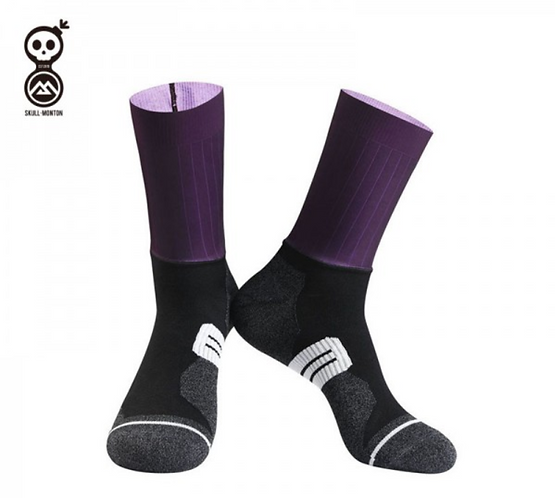 SKULL MONTON CYCLING SOCKS SATURDAY PURPLE
