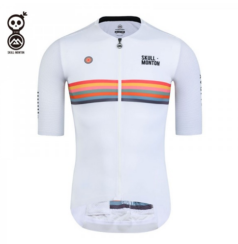 SKULL MONTON MENS CYCLING JERSEY HOLIDAY WHITE
